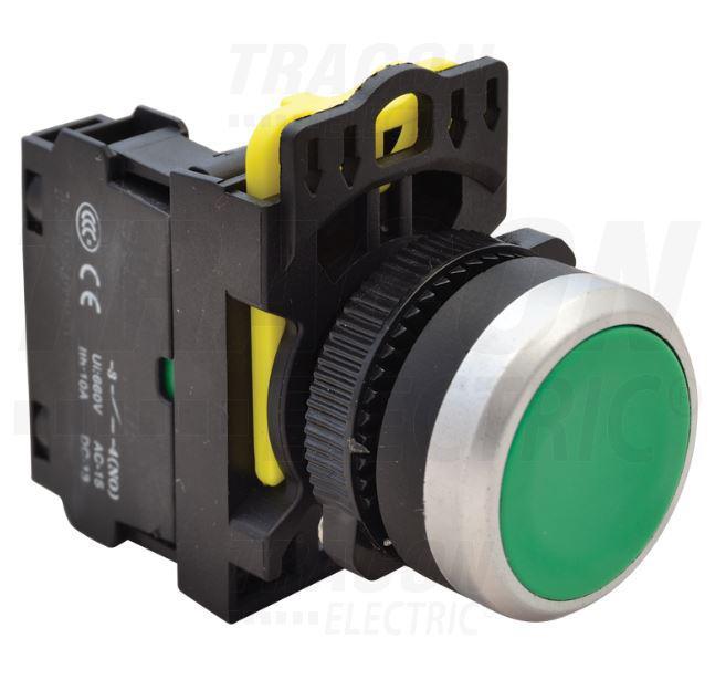 Nyomógomb zöld IP65