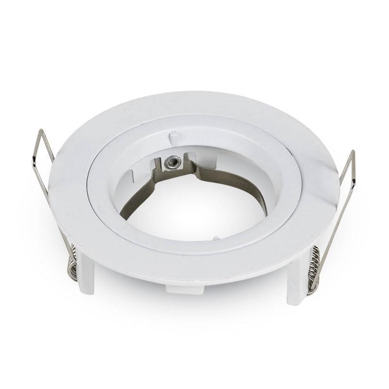 Olcsó beépíthető fix kör spot lámpatest fehér IP20