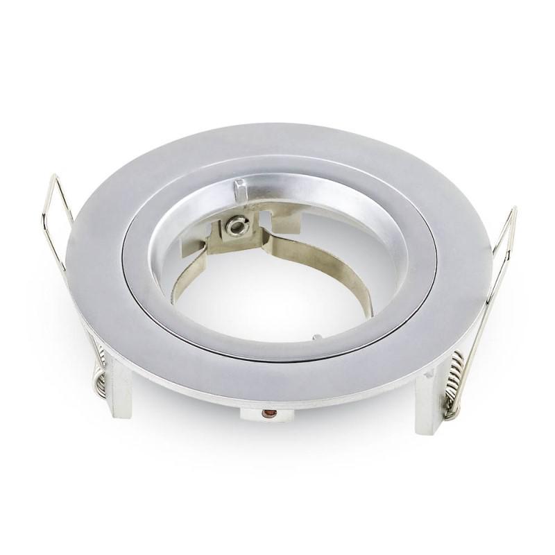 Olcsó beépíthető fix kör spot lámpatest metálszürke IP20