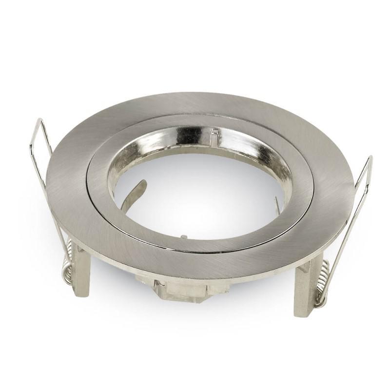 Olcsó beépíthető fix kör spot lámpatest szatén-nikkel IP20