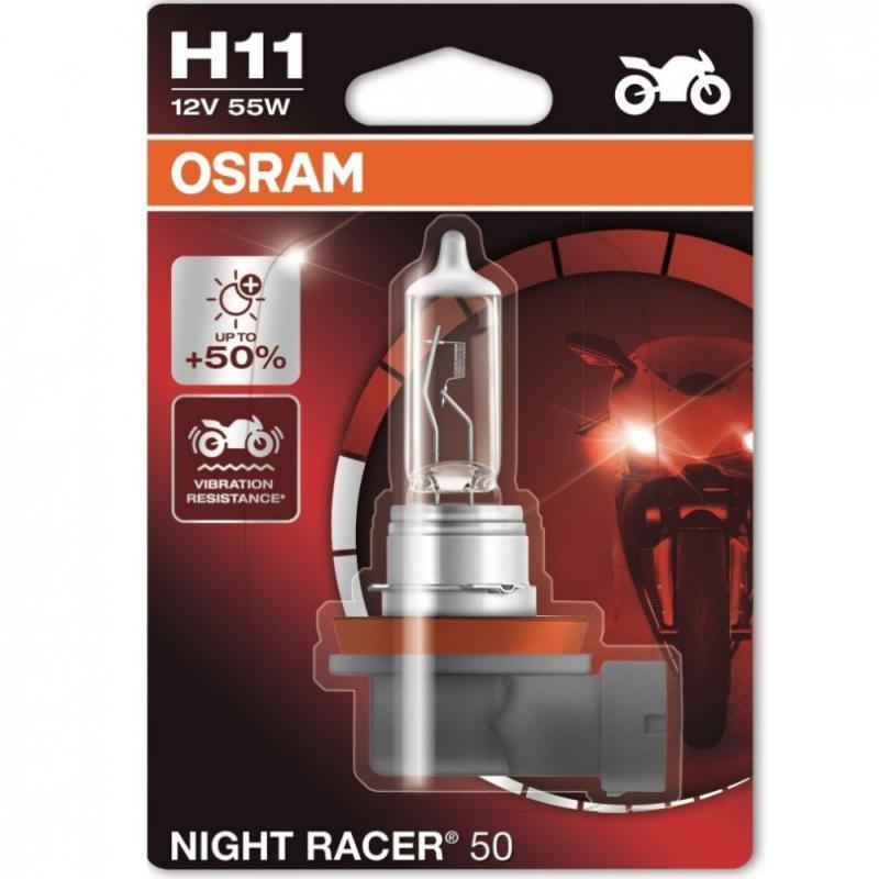 Osram Night Racer H11 +50% motorkerékpár izzó 3200K