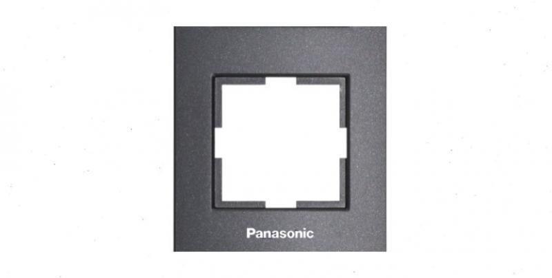 Panasonic Karre Plus 1-es keret fekete (felirattal)