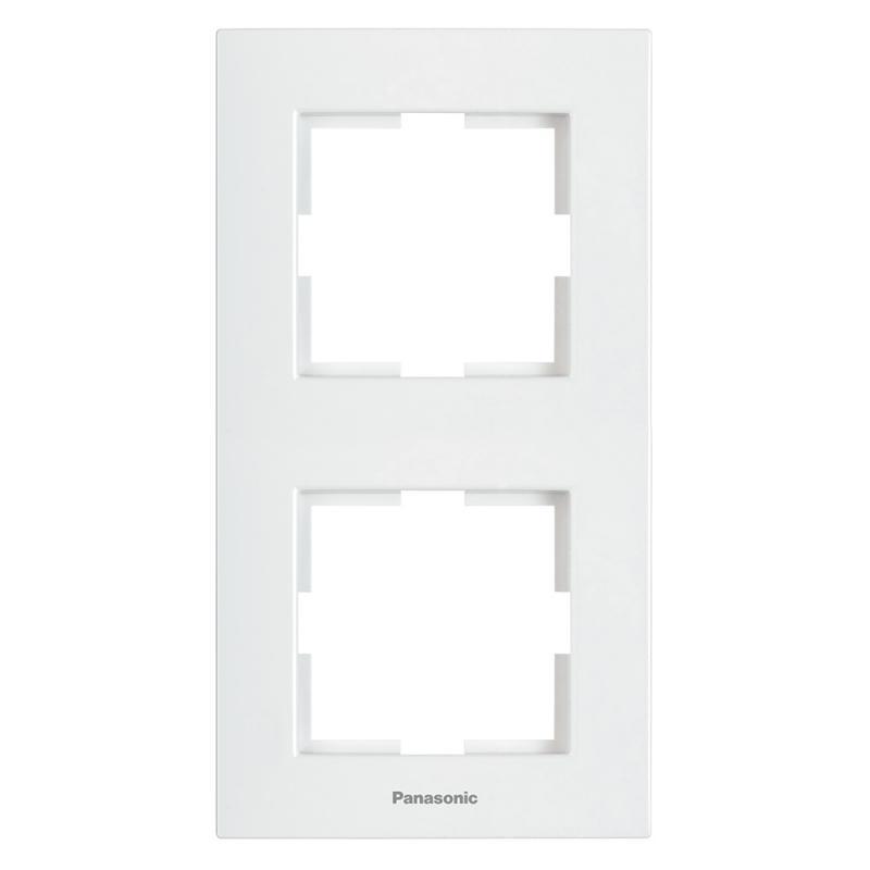 Panasonic Karre Plus 2-es sorolókeret függőleges fehér