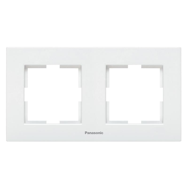 Panasonic Karre Plus 2-es sorolókeret vízszintes fehér