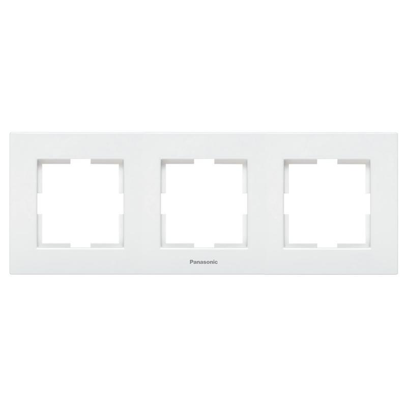 Panasonic Karre Plus 3-as sorolókeret vízszentes fehér