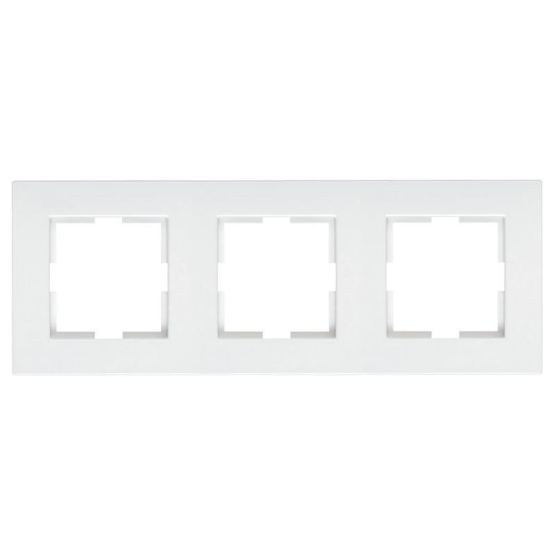Panasonic Karre Plus 3-as sorolókeret vízszentes/függőleges fehér logo nélkül
