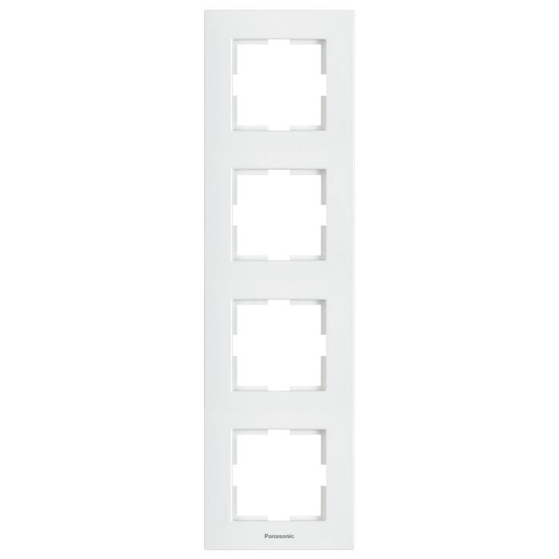 Panasonic Karre Plus 4-es sorolókeret függőleges fehér