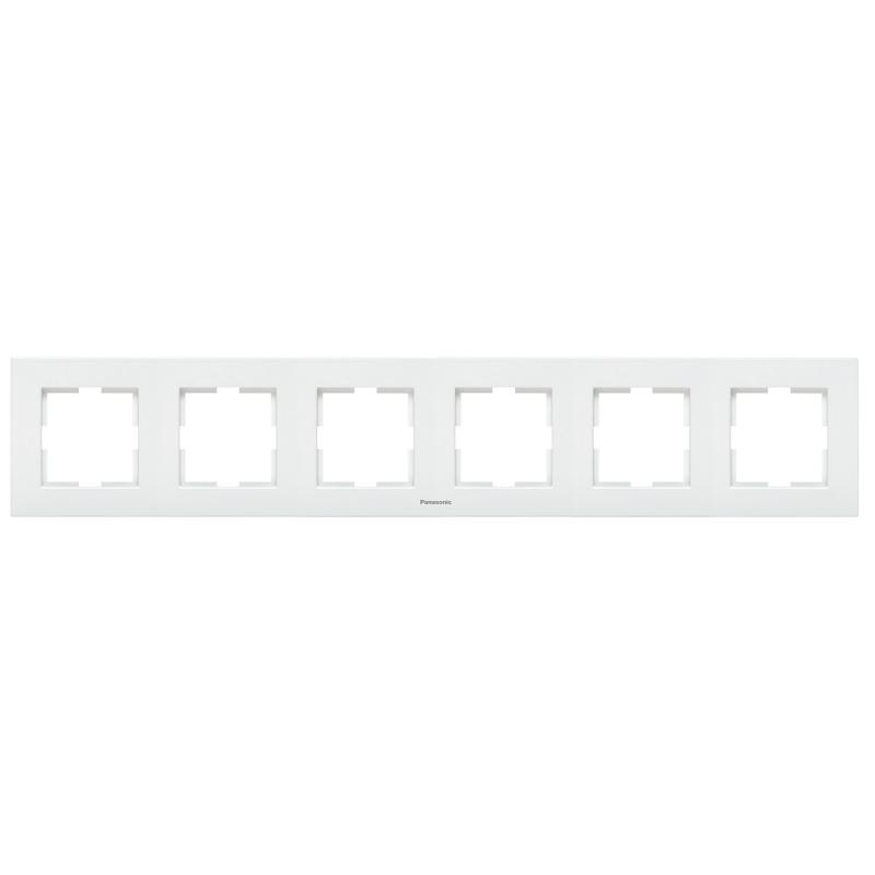 Panasonic Karre Plus 6-os sorolókeret vízszintes fehér