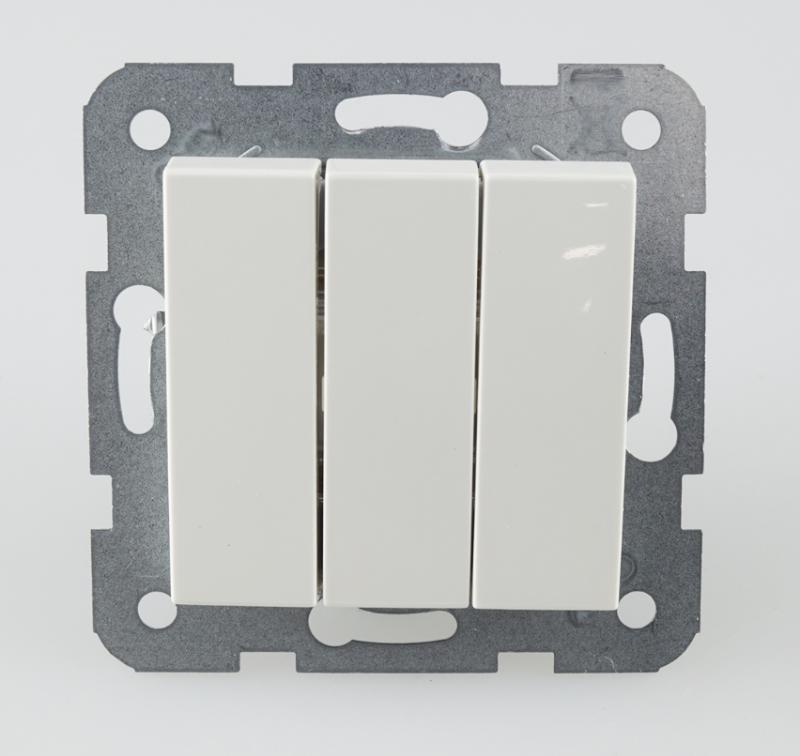 Panasonic Karre Plus csillár kapcsoló 3 billentyűs fehér keret nélkül