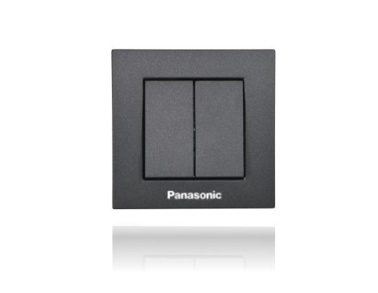 Panasonic Karre Plus csillárkapcsoló 105 fekete keret nélkül
