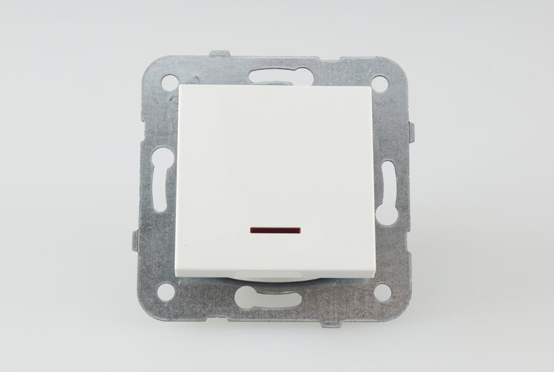 Panasonic Karre Plus egypólusú kapcsoló 101 jelzőfényes fehér keret nélkül