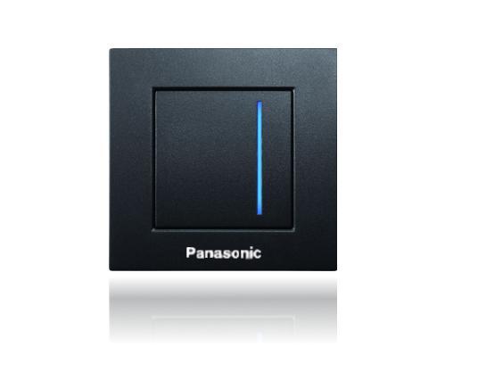 Panasonic Karre Plus fényerőszabályzós érintőkapcsoló fekete keret nélkül