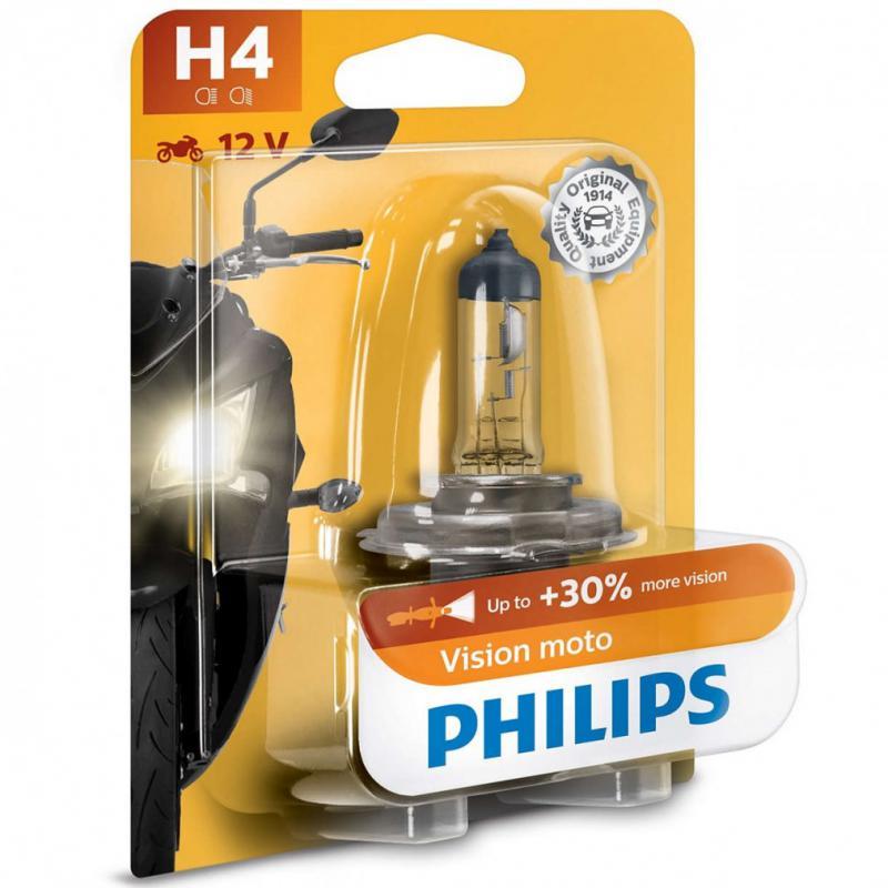 Philips MotoVision +30% H4 motorkerékpár izzó