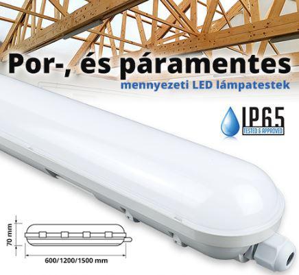 Por és páramentes led lámpatest 48W IP65 6000K
