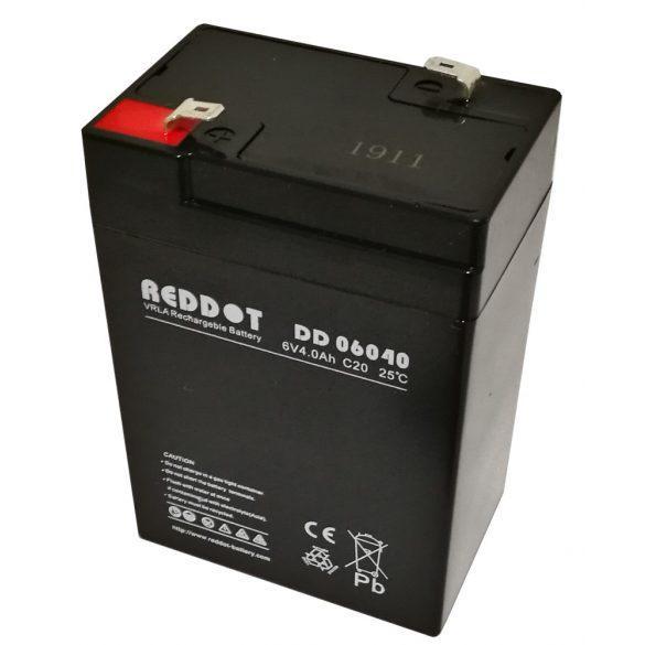 Reddot 6V 4Ah zárt gondozásmentes AGM akkumulátor