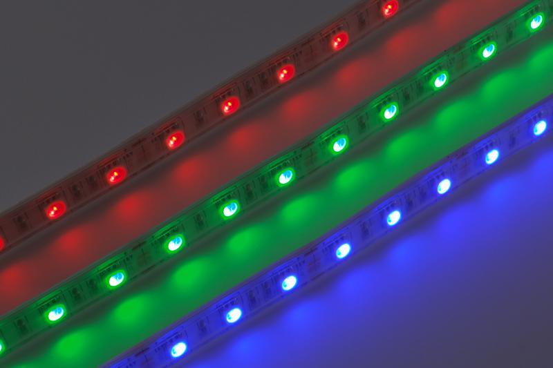 RGB Led szalag kültéri IP65 60led/m szilikon dekor 5m