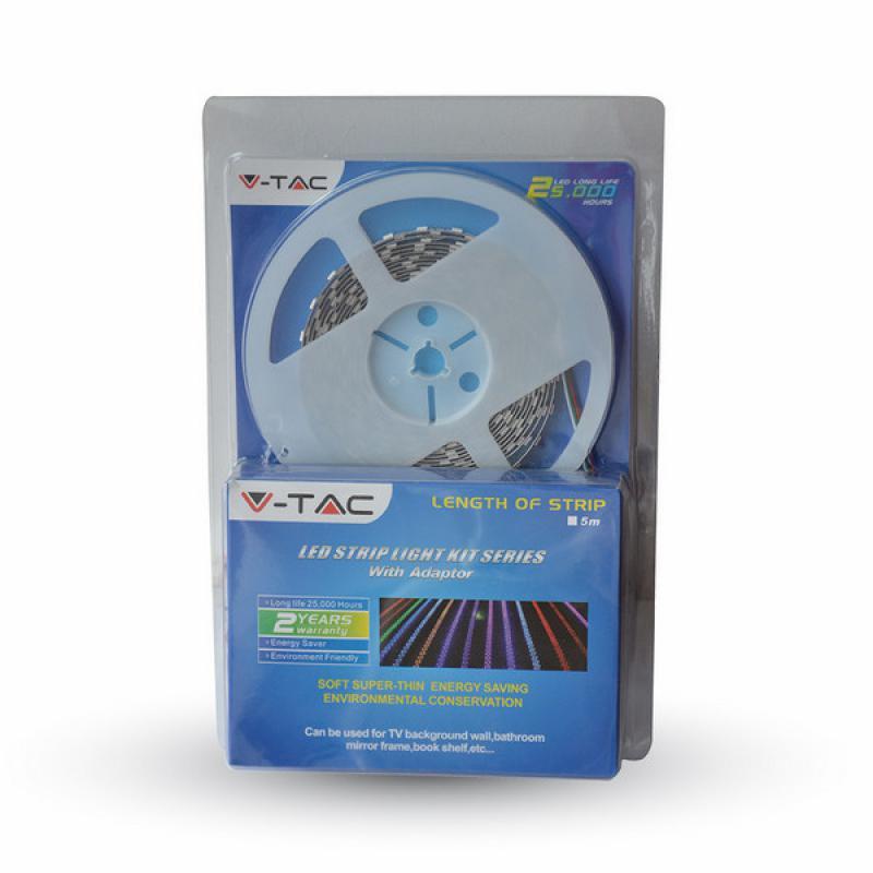 RGB Led szalag szett vezérlővel tápegységgel beltéri dekor 30led/m