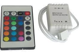 RGB vezérlő infra távirányítású 72W 24 gombos