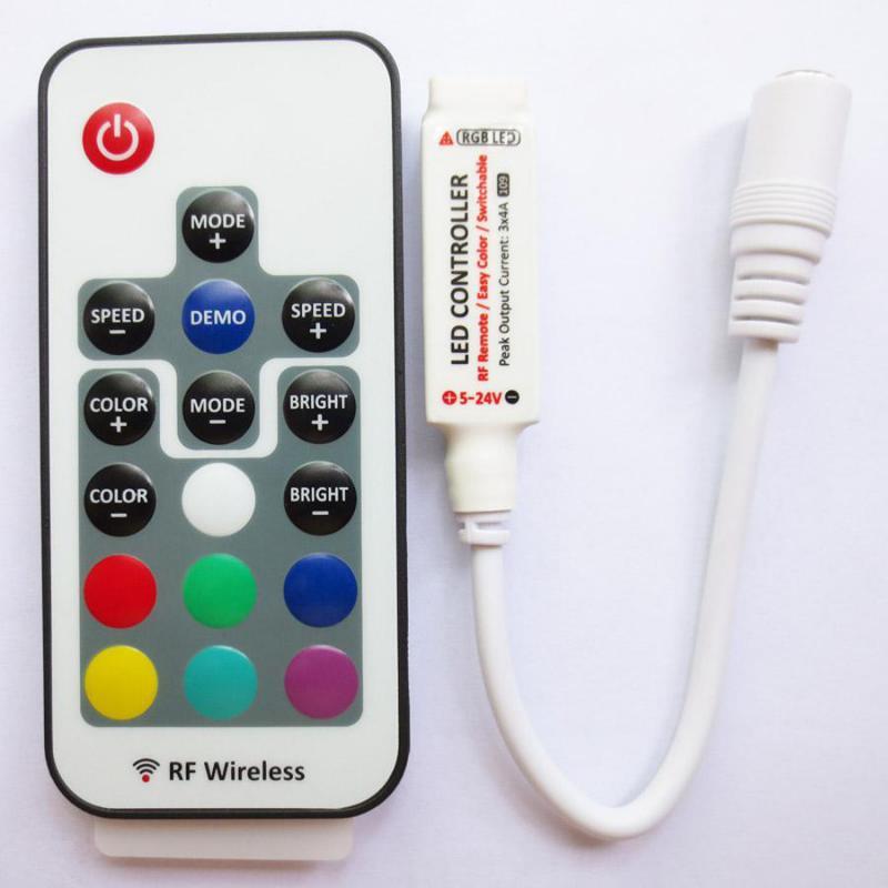 RGB vezérlő micro 144W távirányítóval
