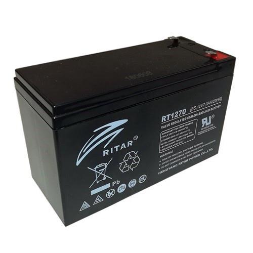 Ritar RT1270E 12V 7Ah zselés akkumulátor Riasztóhoz