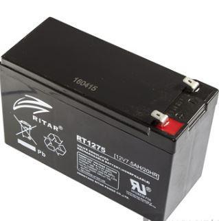 Ritar RT1275 12V 7,5Ah zselés akkumulátor Riasztóhoz