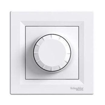 Schneider Asfora fényerőszabályzó 60-600W, komplett, fehér