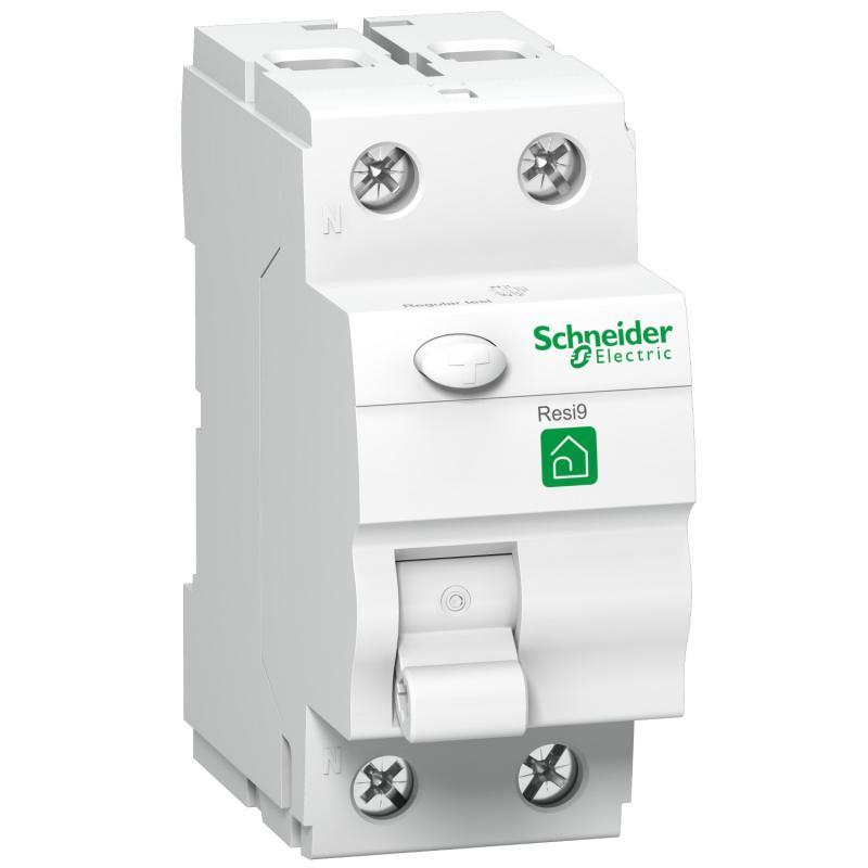 Schneider RESI9 áram-védőkapcsoló, A osztály, 2P, 40A, 30mA