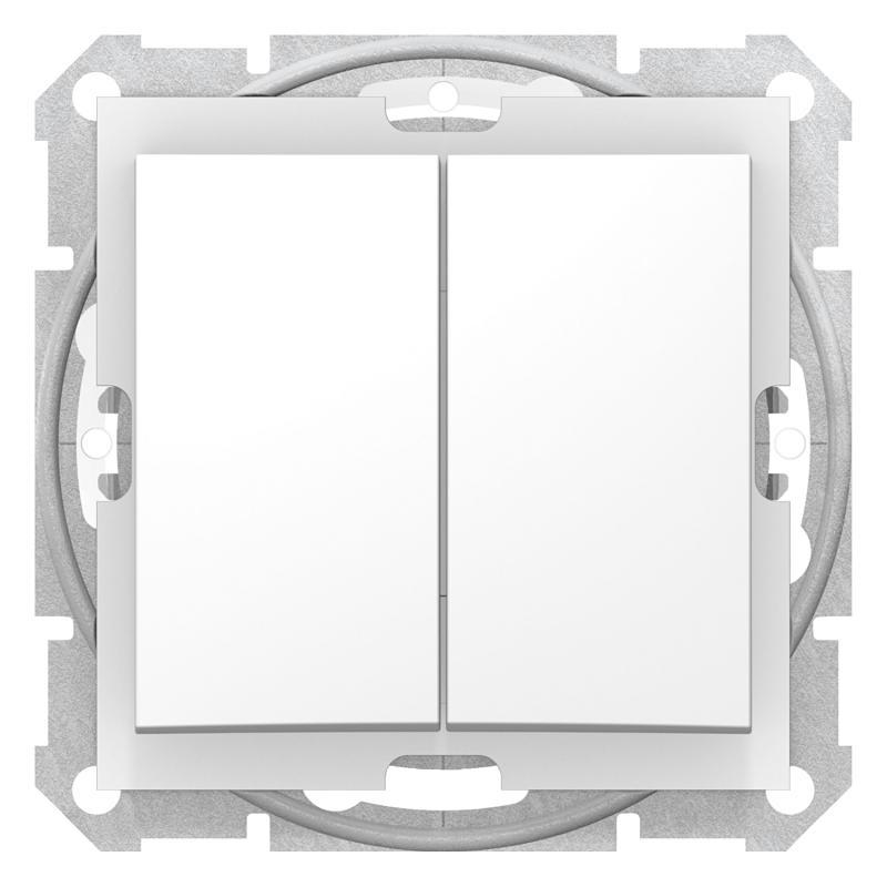 Schneider SEDNA Csillárkapcsoló, rugós bekötés, 10AX, IP44, fehér
