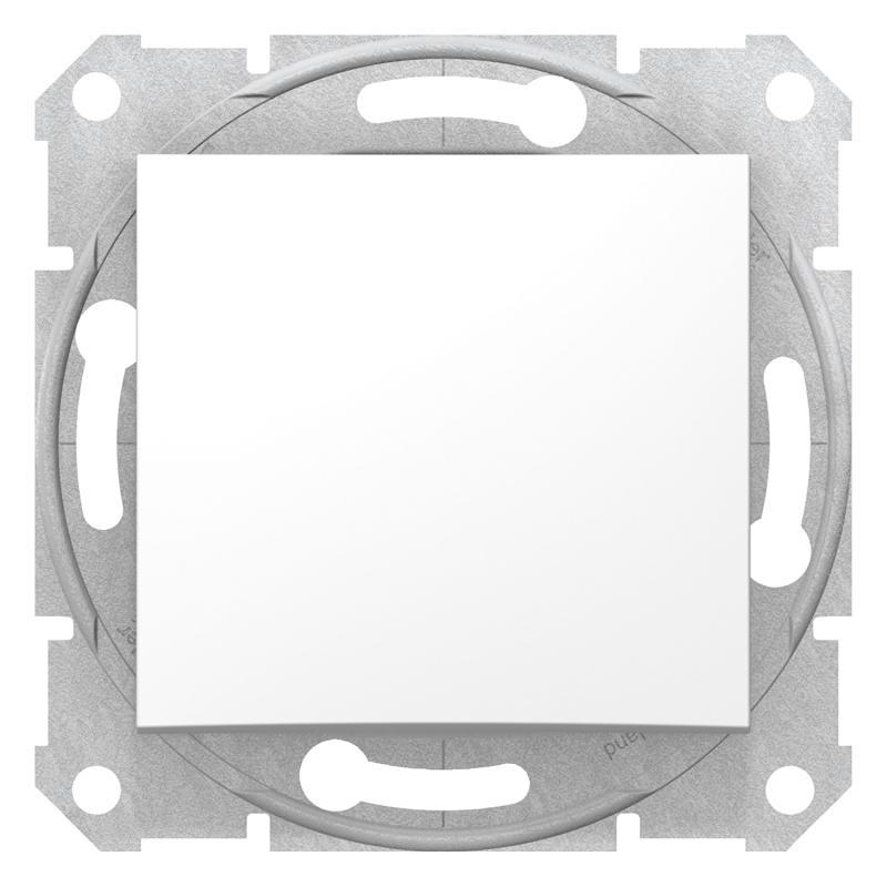 Schneider SEDNA Egypólusú kapcsoló, rugós bekötés, 10AX, fehér (101)