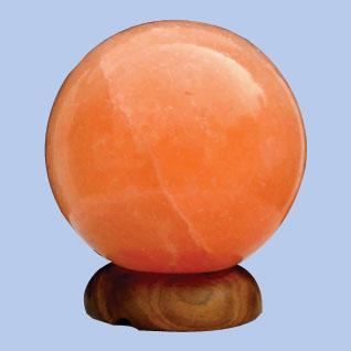 Sókristály lámpa gömb