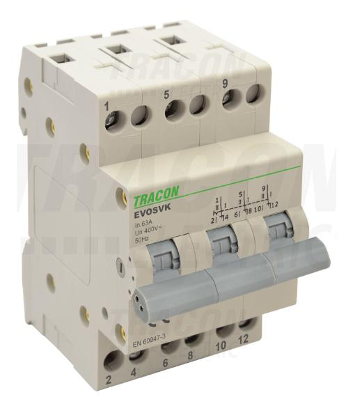 Sorolható váltókapcsoló 3P 32A