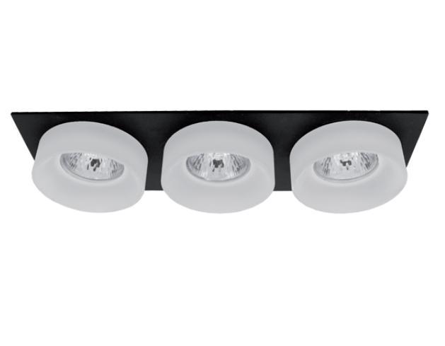 Spot lámpatest SA-045/3 négyzet fekete/fehér