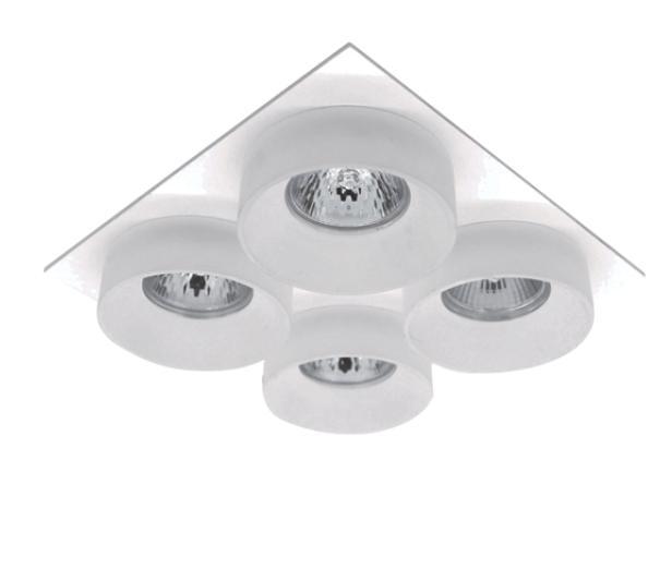 Spot lámpatest SA-045/4 négyzet fehér