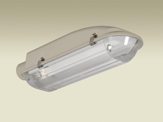 Street-136 1x36W kompakt fénycsöves kültéri lámpatest PC búrával