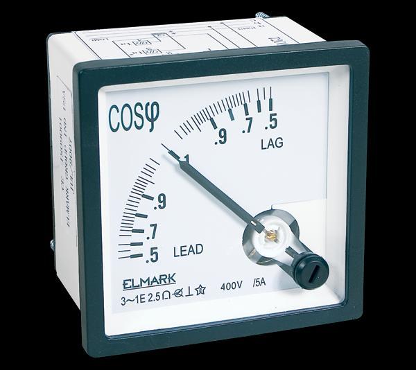 Táblaműszer Analóg COS ɸ mérő műszer 72x72