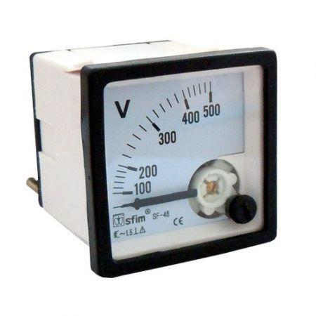Táblaműszer Analóg Feszültség mérő műszer DC 0-100V