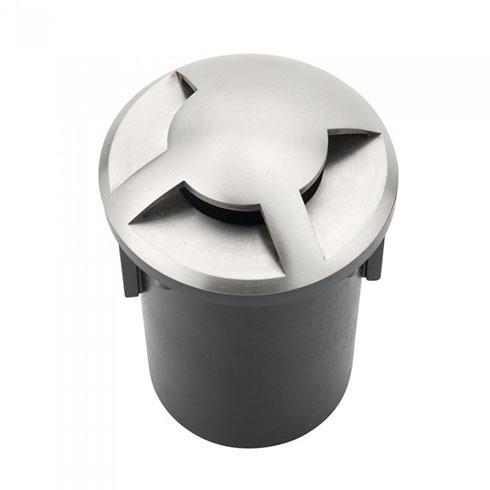 Talajba süllyeszthető lámpatest MR16 ezüst-fekete 3 nyílással