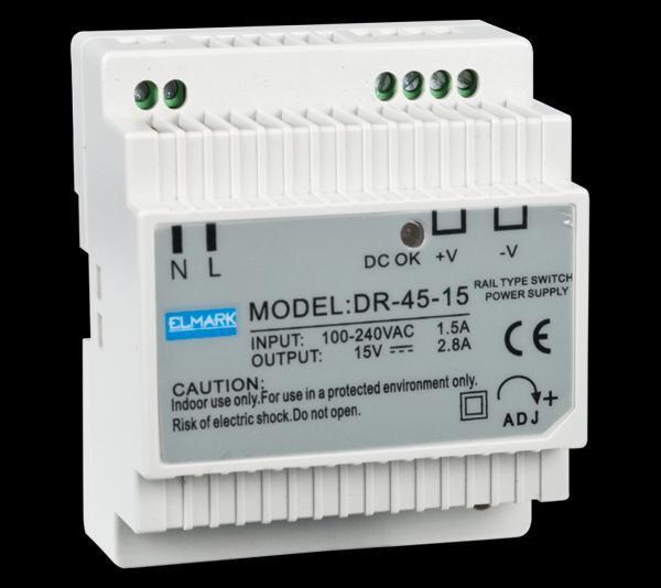 Tápegység DR45 15V 2.8A
