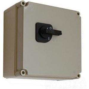 Terheléskapcsoló szekrény 3+N+PE kapcsokkal 5P 125A 1-kapcsolóval PVT 3045 T 125A
