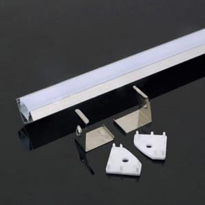 Alumínium profil LED szalaghoz Sarok profil 90° Opál fedlappal