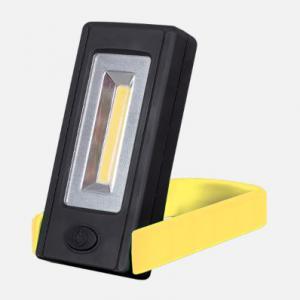 Elemes LED kézi lámpa mágnessel és rögzítő clippel sárga