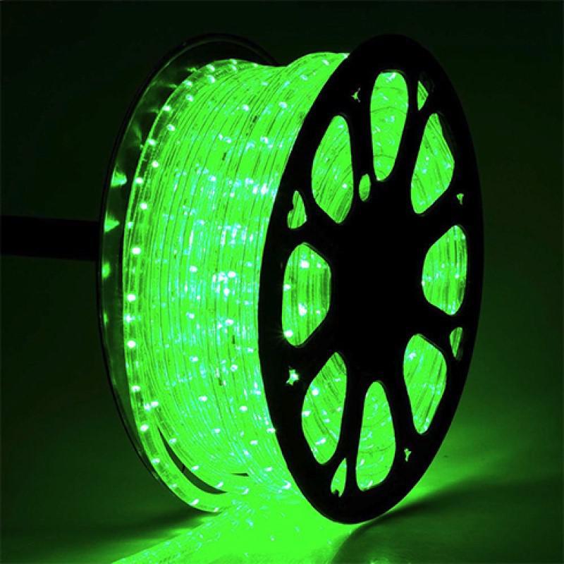 Total Green Led fénykábel zöld
