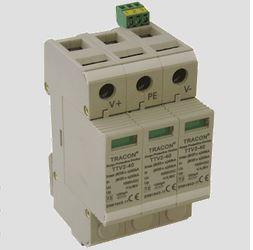 Túlfeszültség levezető 3 pólusú C 20 kA TTV2 600V egyen áramú szolár