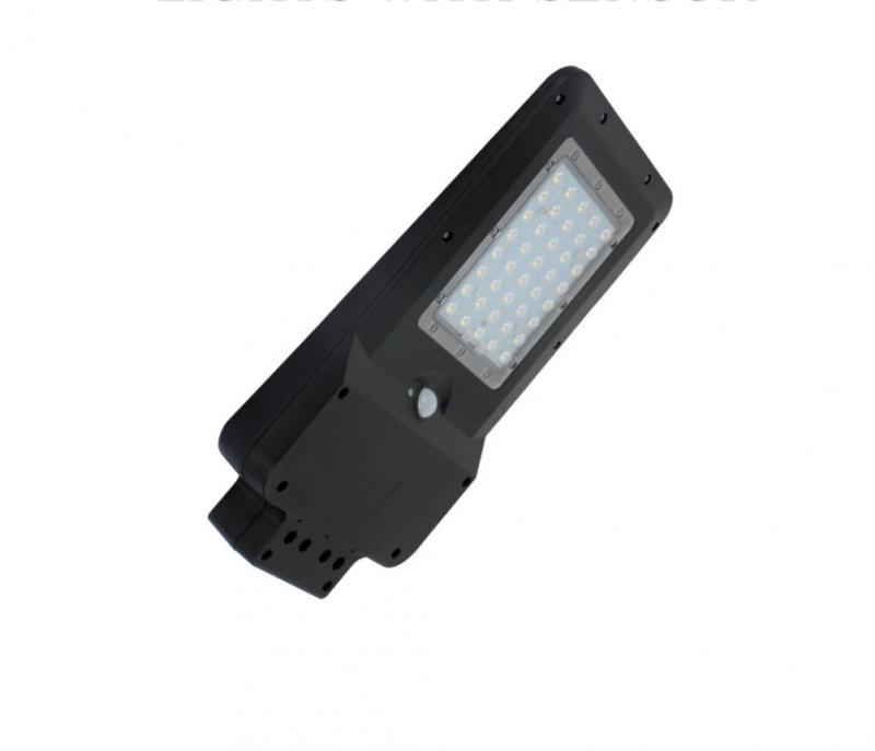 Utcai napelemes szenzoros LED lámpa 20W 120 ° hideg fehér IP65 400Lm