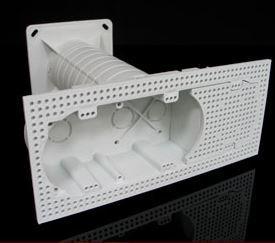 Villanyszerelési doboz hőszigetelő burkolatba sorolható szerelvényekhez