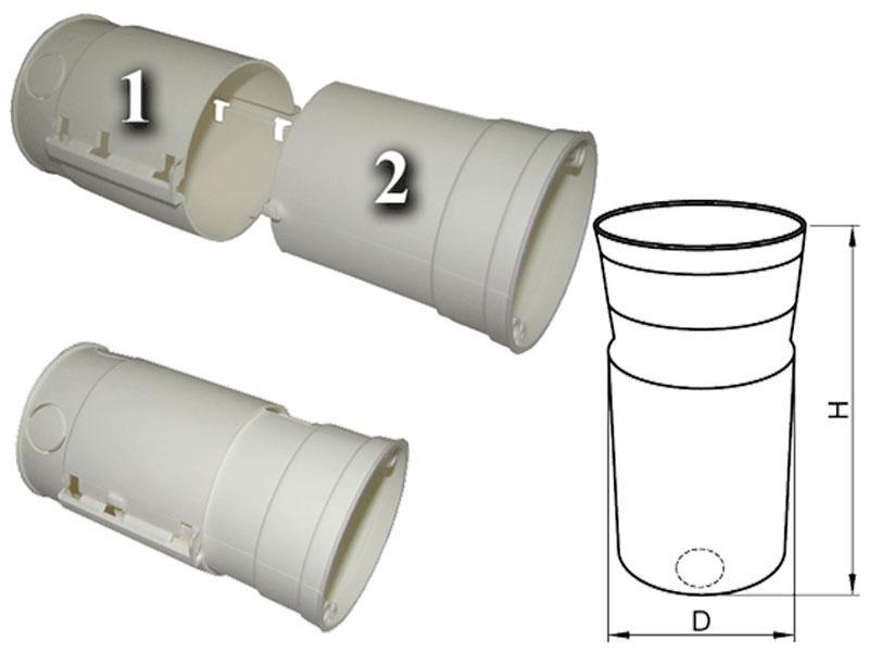 Villanyszerelési doboz hőszigetelő burkolatba UD70