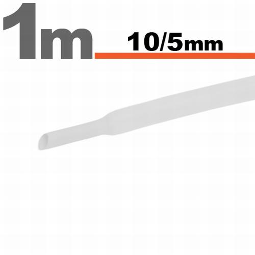 Zsugorcső 10mm/5mm fehér