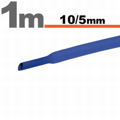 Zsugorcső 10mm/5mm kék