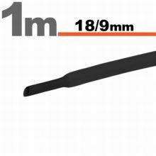 Zsugorcső 18mm/9mm fekete