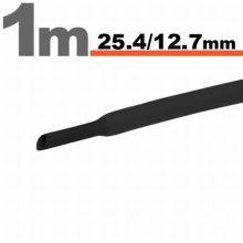 Zsugorcső 25,4mm/12,7mm fekete